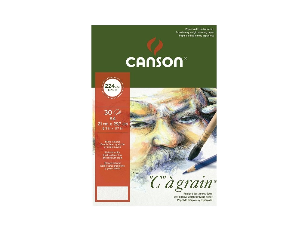8768 graficky papir canson cagrain blok lepeny a4 224g 30listu
