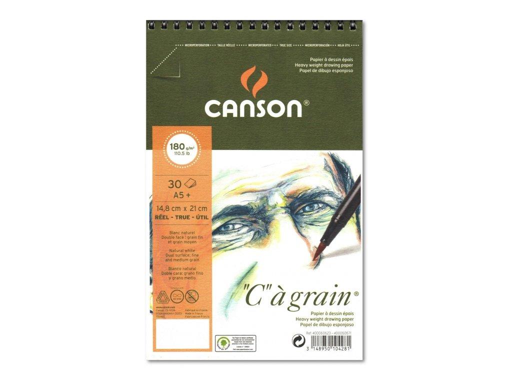 8780 graficky papir canson cagrain blok krouzkovy a5 180g 30 listu