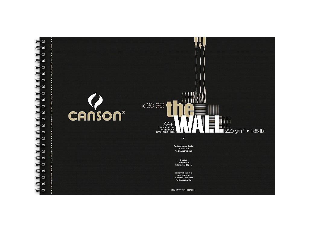8786 graficky papir canson the wall krouzkovy blok a4 220 g 30 listu