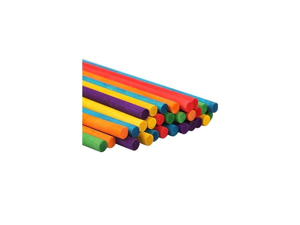8801 tycinky drevene barevne 50 ks craft with fun