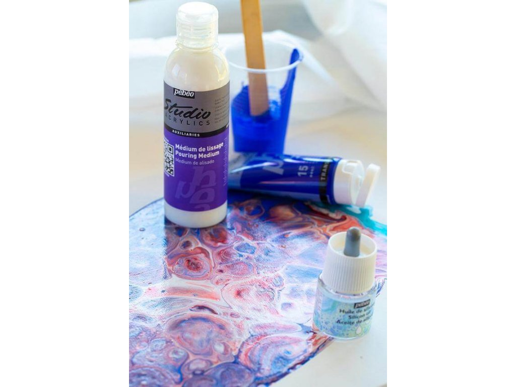 11750 akrylova barva pebeo studio acrylic 100 ml 017 modr phthalocyanova