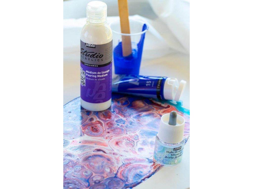 11786 akrylova barva pebeo studio acrylic 100 ml 030 tyrkysova