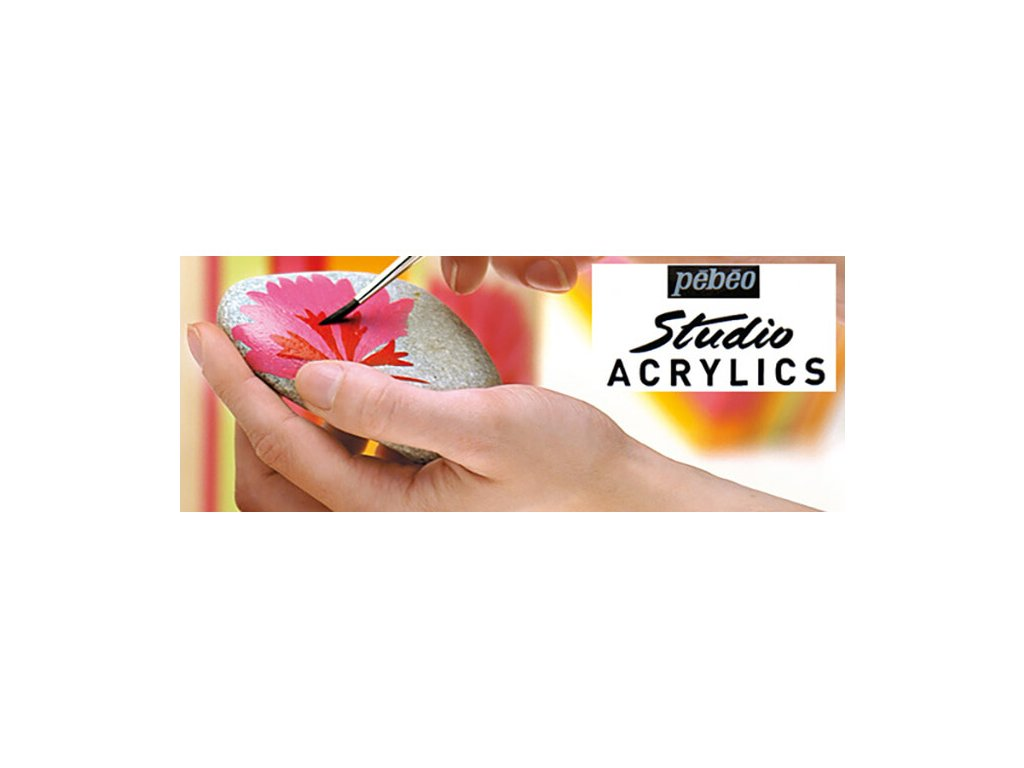 11807 akrylova barva pebeo studio acrylic 100 ml 039 benatska cerven