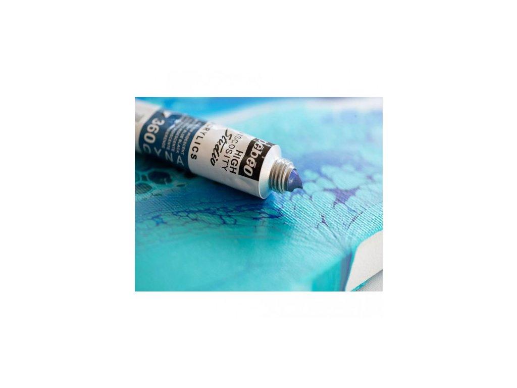 11912 akrylova barva pebeo studio acrylic 100 ml 360 modrocerna iridescentni