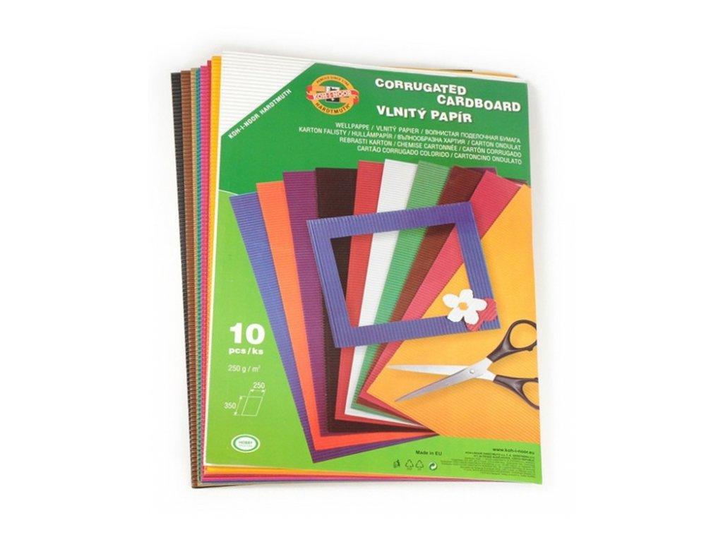 12641 vlnity papir 25x35 cm sada 10 listu 10 barev