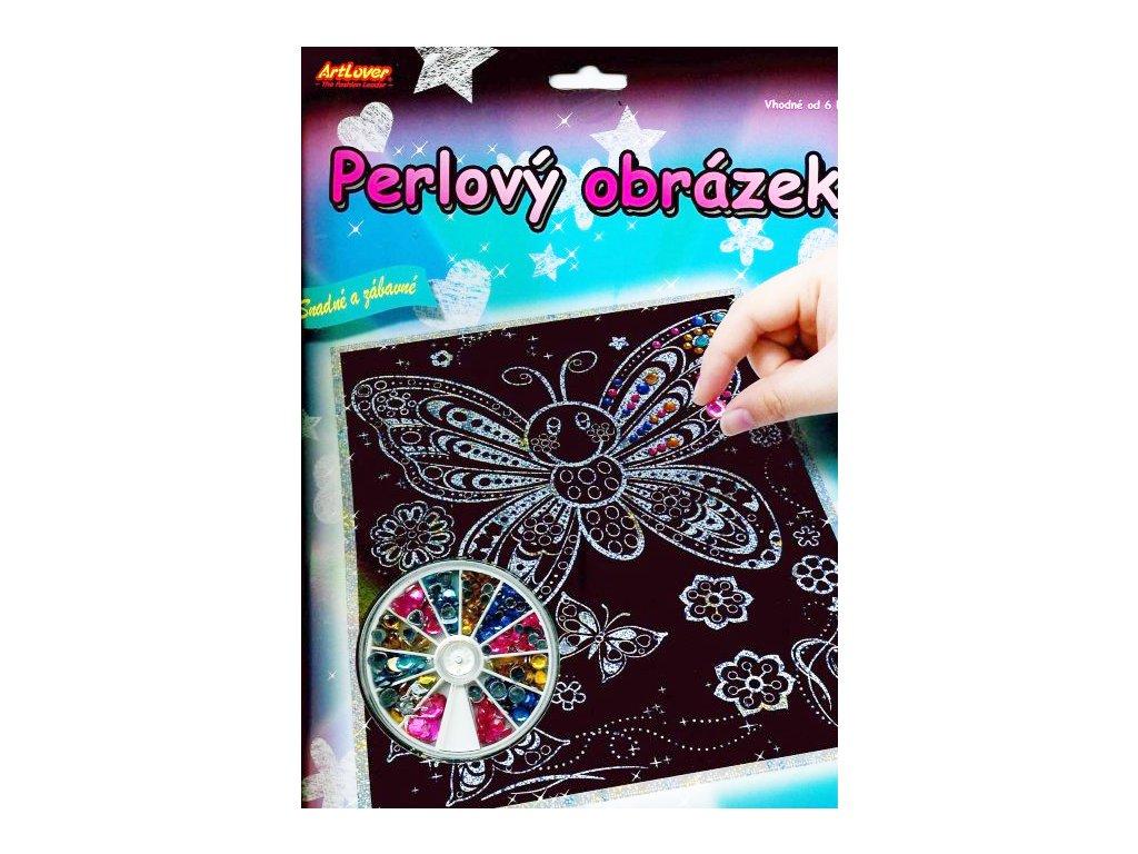 13520 1 perlovy obrazek motylek