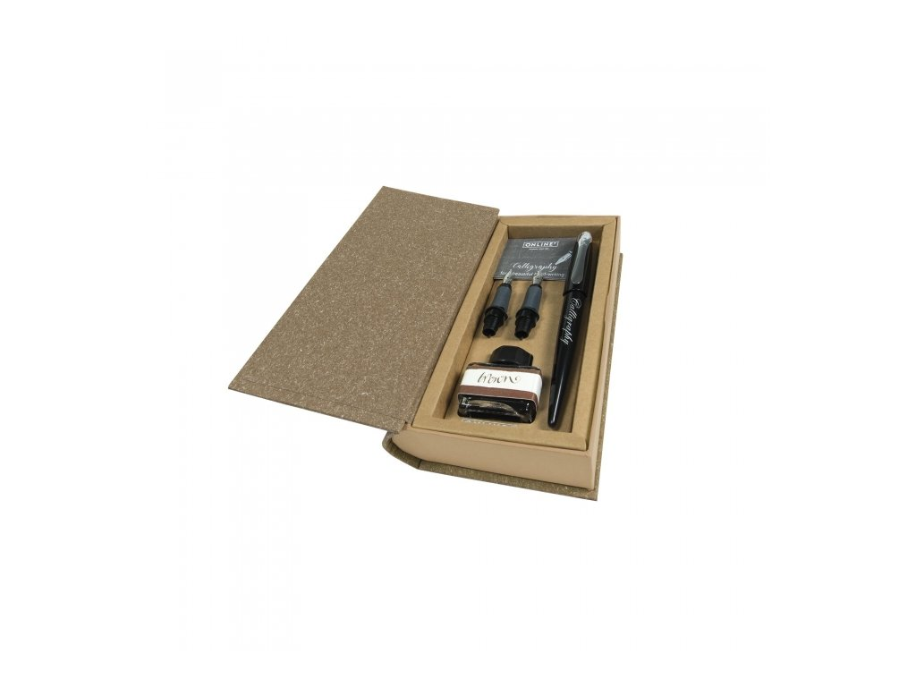 13952 4 kaligraficky set online kniha cerne pero