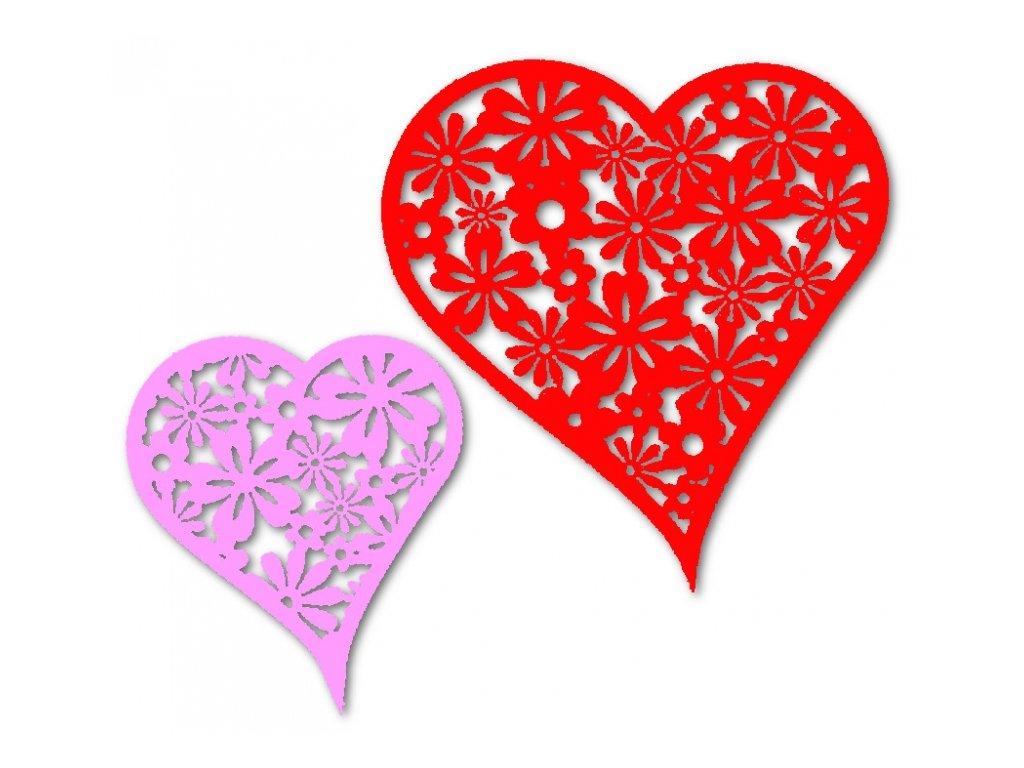 14147 vyrez karton srdce cervene ruzove