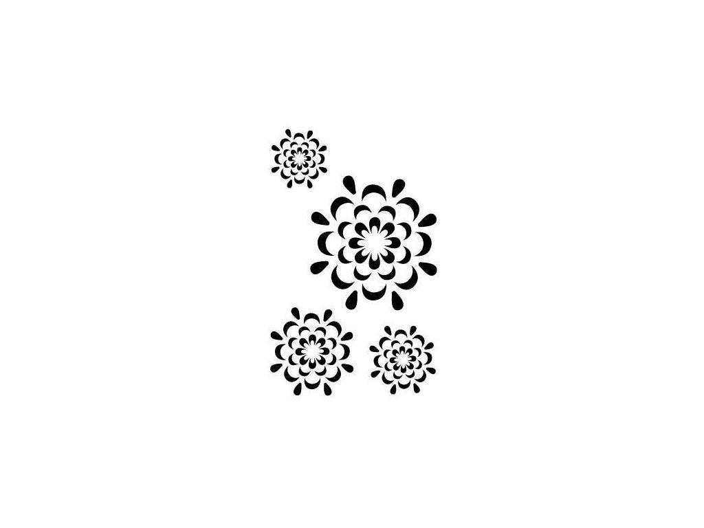 30108 sablona plastova a4 kvety