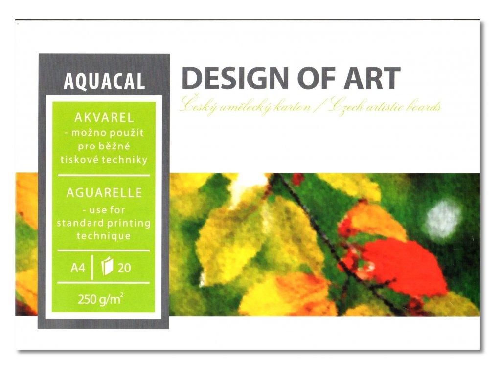 33912 akvarelovy blok aquacal a4 250g m2 20 listu