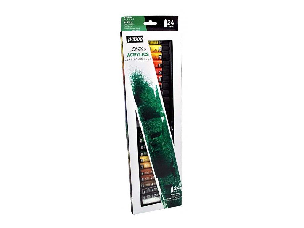 35271 akrylove barvy pebeo studio acrylic 668220 sada 24 x 12 ml