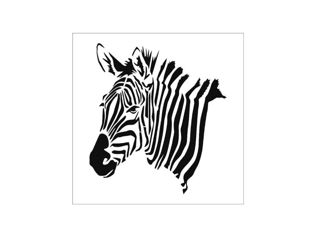 35862 sablona plastova 25 x 25 cm zebra