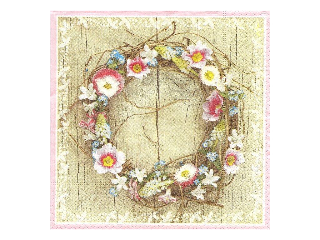 35868 ubrousek 33x33 cm spring wreath