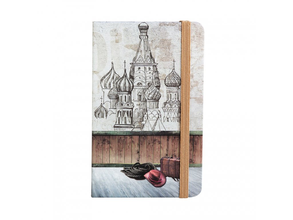 zapisnik ctvereckovany travel 14 x 9 cm design kreml