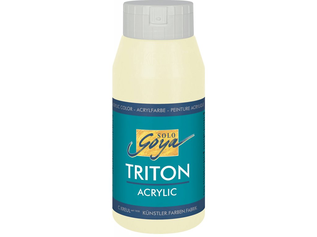 Akrylová barva SOLO GOYA Triton 750ml slonovinová DOPRODEJ