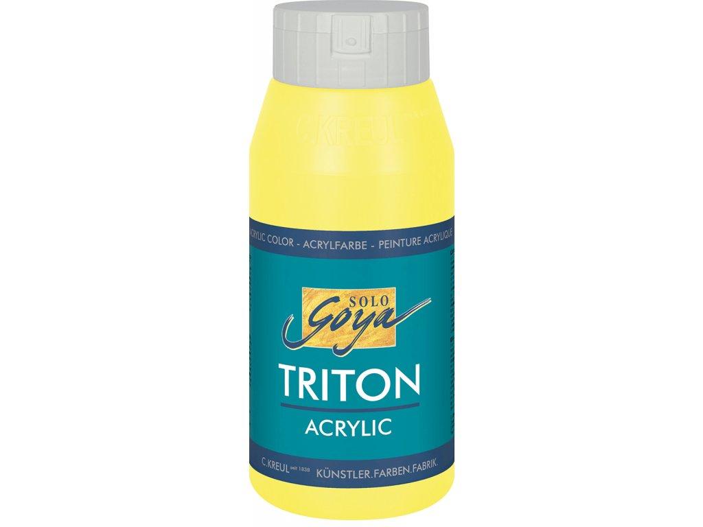 Akrylová barva SOLO GOYA Triton 750ml žlutá citronová DOPRODEJ