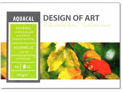 227 akvarelovy blok aquacal a2 250g m2 20 listu