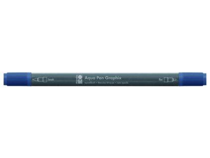 506 1 akvarelovy fix oboustranny aqua pen graphix modra kourova 145