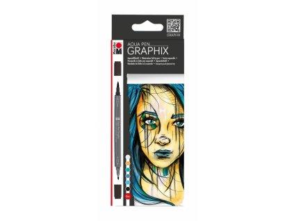 536 4 aquarelove popisovace marabu graphix metropolitan sada 6ks