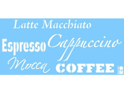 Šablona Marabu 15x33cm Coffee DOPRODEJ