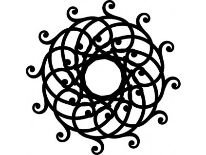 Šablona Marabu pro Fashion sprej 15x15cm - Mandala