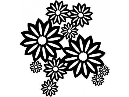 Šablona Marabu pro Fashion sprej 30x30cm - Divoké květy