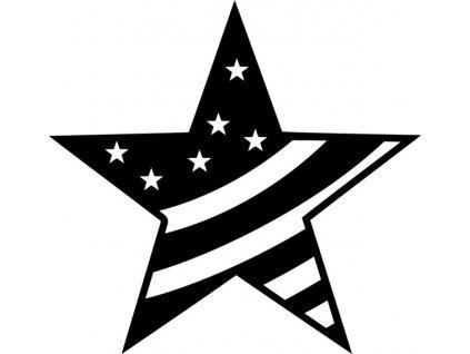 Šablona Marabu pro Fashion sprej 30x30cm - Big Star