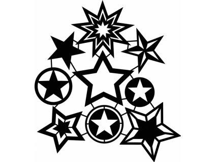 Šablona Fashion Marabu 30x30cm Hvězdičky