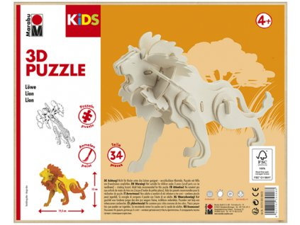 965 1 marabu mara 3d puzzle drevene lev