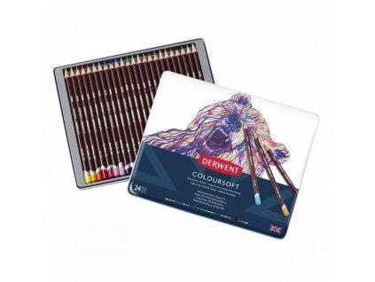 1319 2 umelecke pastelky coloursoft extra syte barvy 24 barev