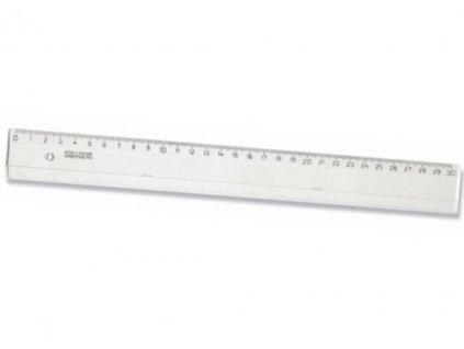 1355 1 pravitko 30 cm transparentni