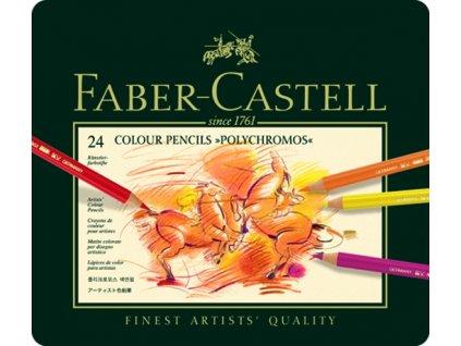 1967 5 umelecke pastelky faber castell polychromos 110024 sada 24 barev