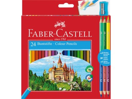2306 1 pastelky faber castell eko 24 barev 3 bicolor orezavatko
