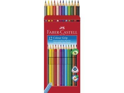 2408 2 akvarelove pastelky faber castel grip 2001 12 barev 112412