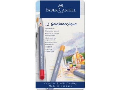 2510 6 pastelky goldfaber aqua 12 barev plech