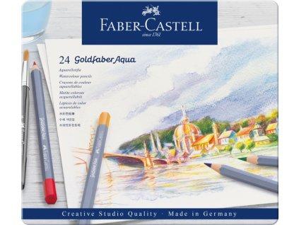 2513 6 pastelky goldfaber aqua 24 barev plech