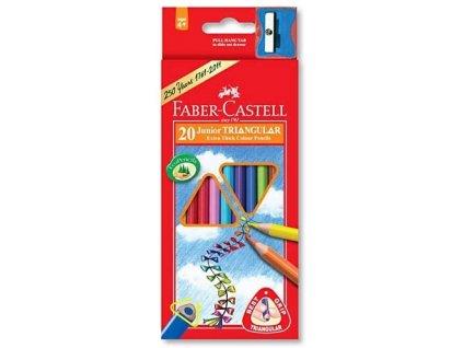 2606 1 pastelky faber castell 116520 trojhranne silne 20 barev orezavatko