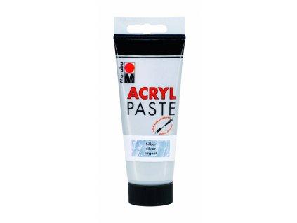 2861 akrylova pasta marabu 100 ml stribrna