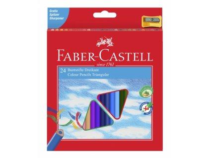2879 1 trojhranne pastelky faber castell eco 24 ks orezavatko