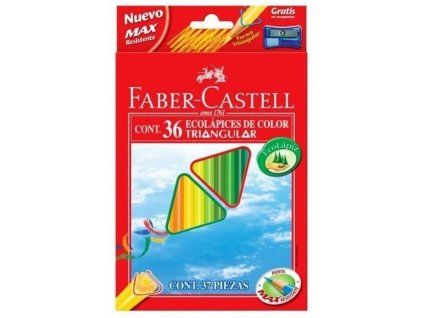 2882 1 trojhranne pastelky faber castell eco 36 ks orezavatko