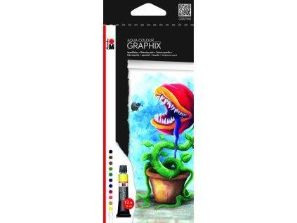 2912 akvarelove barvy graphix high by fly sada 12 tub