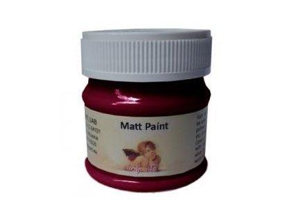 Matná akrylová barva 50ml - červená bordó