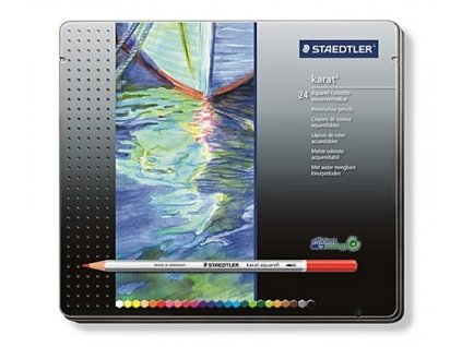 3269 2 akvarelove pastelky staedtler karat 24 barev v plech