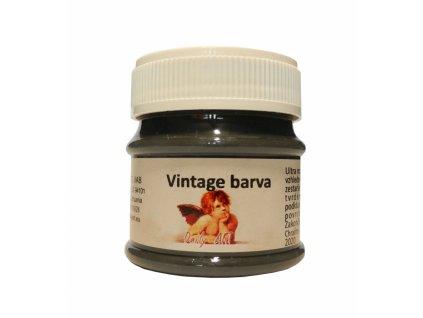 3833 vintage akrylova kridova barva barva 126 uhlove cerna