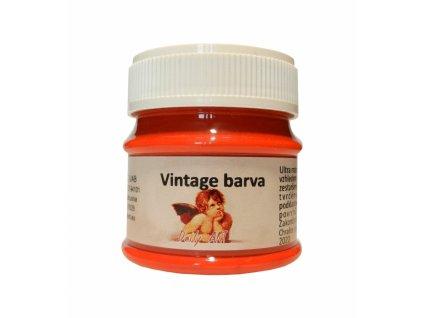 3836 vintage akrylova kridova barva barva 165 ruda