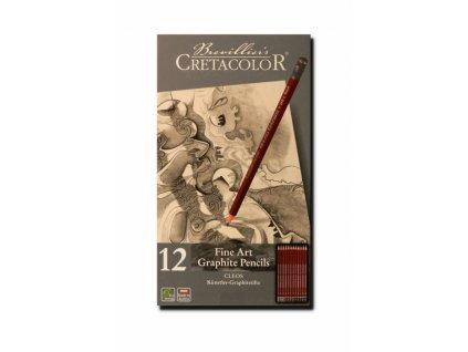 4127 3 umelecke grafitove tuzky cretacolor cleos 160 52 sada 2h 9b plech