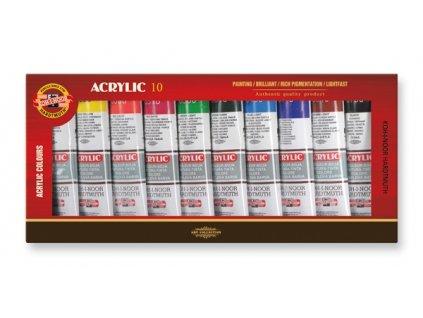 4298 akrylove barvy koh i noor 162704 sada 10 x 40 ml