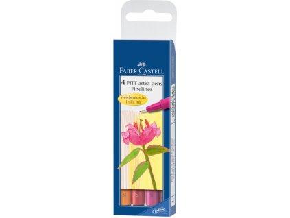 4481 1 popisovace pitt artist pen s 4 ks teple barvy