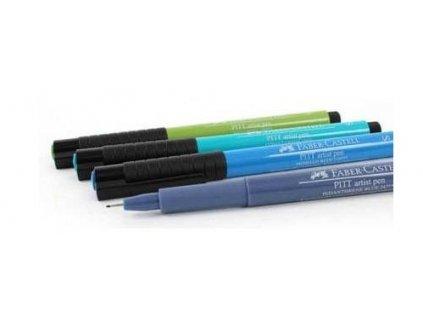 4484 1 popisovace pitt artist pen s 4 ks studene barvy