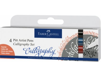 4574 3 kaligraficke fixy pitt artist pen c sada 4 ks
